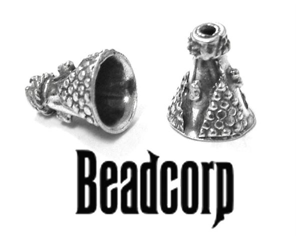 8x10mm Sterling Silver Bali Cone Bead