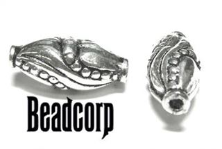 14x8mm Sterling Silver Bali Bead