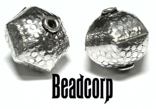 14x16mm Sterling Silver Bali Bead