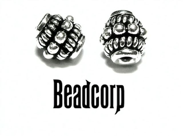 6mm Sterling Silver Bali Bead