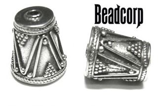 9x11mm Sterling Silver Bali Bead