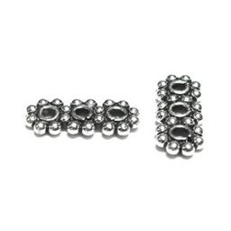 4mm Sterling Bali Daisy Strand Spacer 3 Hole