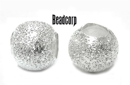8mm Sterling Silver Diamond Cut Fancy Bead