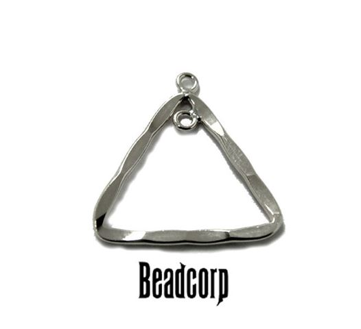 18mm Silver Filled Hammered Triangle Component