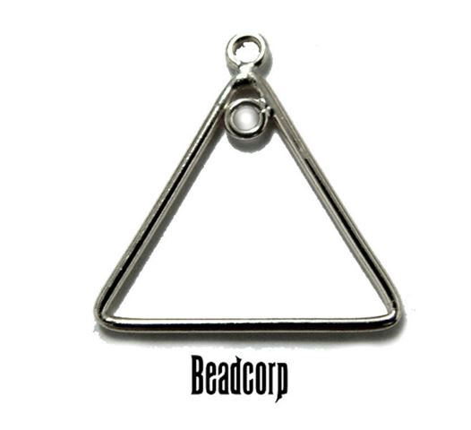 17mm Silver Filled Plain Triangle Component