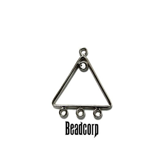 14mm Silver Filled Plain Triangle Component