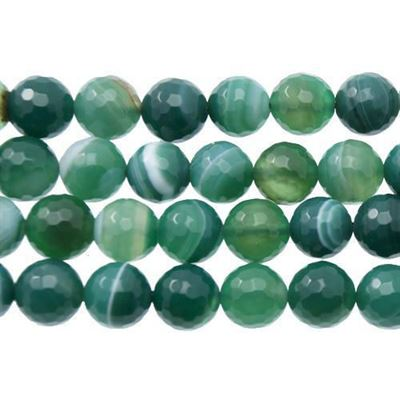 Sea Green Agate Faceted Beads 16