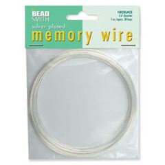 Silver Memory Wire Necklace 1 ounce