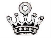 14.5x13mm Kings Crown Charm 2pcs. - Tierracast