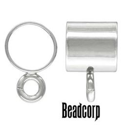 5.0x5.0mm Sterling Silver Tube w/Ring