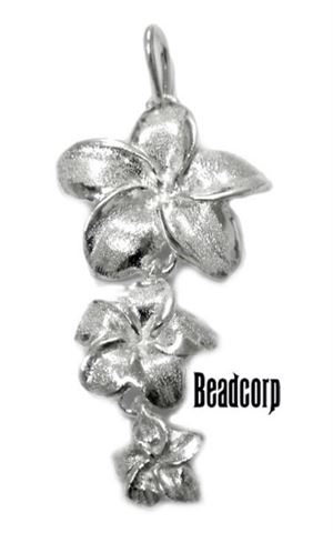 40x19mm Sterling Silver Focal Floral Pendant