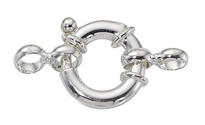 12mm Sterling Silver Large Spring Ring Clasp