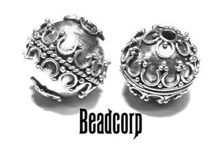 15mm Sterling Silver Bali Bead