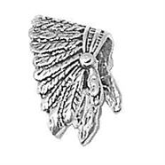 Sterling Silver Indian Headdress Charm