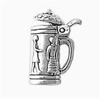 Sterling Silver Large Beer Stein Charm