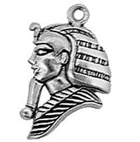 Sterling Silver King Tut Charm (H 3/4