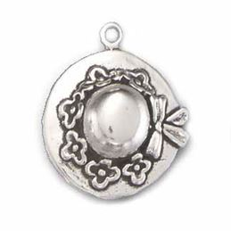 Sterling Silver Ladies Hat Charm