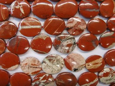 WHITE LACE RED JASPER FREE FORM 20X25-30X40MM