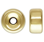 10mm gold filled plain rondell each