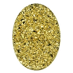 18x25mm Gold Oval Druzy Cabochons
