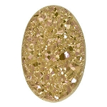18x25mm Light Peach Oval Druzy Cabochon