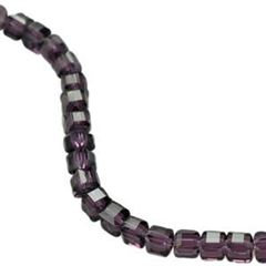 Thunder Polish Cube Crystal Beads (Violet) 8