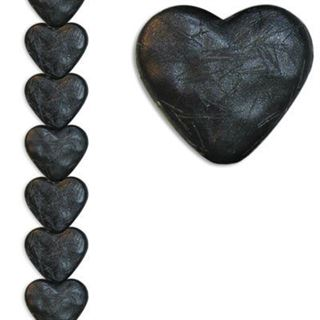 12mm Heart Silk Black 7