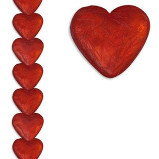 12mm Heart Silk Red 7