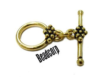 14mm Gold Vermeil Toggle Clasp