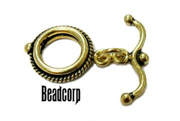 15mm Gold Vermeil Toggle Clasp