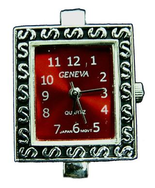 Square Red Watch Face 22.5x19mm
