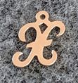 Rose Gold Filled Letter Charm