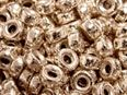 4.2x2mm Rose Gold Filled Glitter Roundel Beads