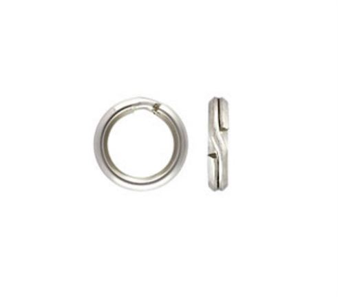 5.2mm Sterling Silver Split Rings (50 pcs.)