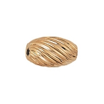 5x8.5mm Gold Filled Oval Corrugated Twist Bead 14/20kt.