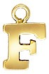 8mm Yellow Gold Filled Block Letter Charm