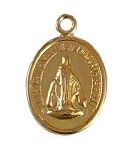 Gold Filled Oval Religious Charm - 13x10mm