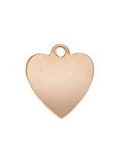 7mm Rose Gold Filled Heart Charm Blank - 24 ga.