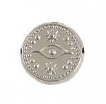 11mm Sterling Silver Evil Eye Bead - (double sided)