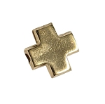 10mm Gold Filled Cross Beads - 14/20kt.