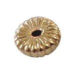 4.5mm Gold Filled Corrugated Flattened Disc Beads 14/20kt.