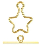 10mm Gold Filled Star Toggle Clasp Set