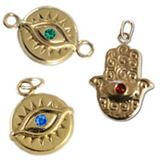 Gold Filled Evil Eye Charms & Links