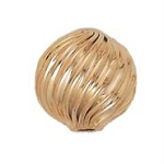 12.5mm Gold Filled Twisted Corrugated Beads - 14/20kt