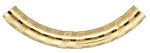 4x38mm Gold Filled Curved Pattern Tube Beads - 14/20kt.