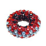Pave Crystal Doughnut Beads