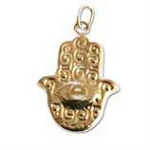 19x15mm Gold Filled Hamsa Hand Charm - (double sided)