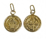 11.5mm Gold Filled San Benito Religious Charm