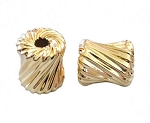 10x10mm Gold Filled Twisted Cubix Beads 14/20kt.