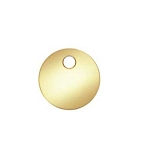 6mm Gold Filled Round Disc Blank - 14kgf